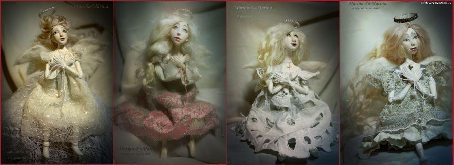 будуарные куклы серии Ангелы на ладони