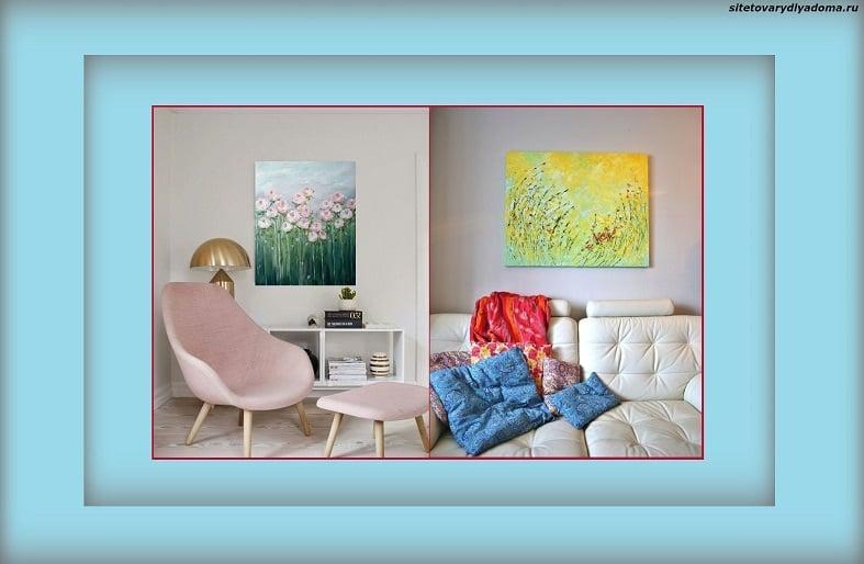 картины маслом для интерьера детской комнаты-фото
