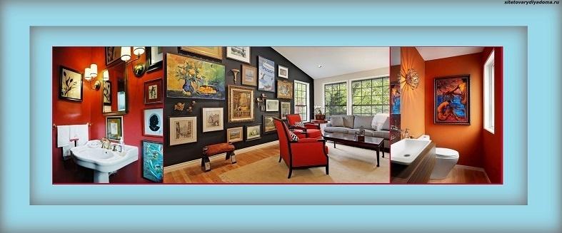 картины маслом для интерьера дома-фото
