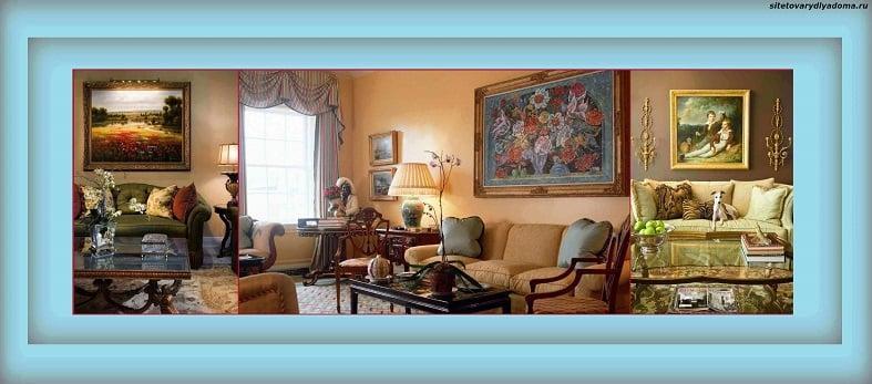 картины маслом для интерьера гостиной-фото