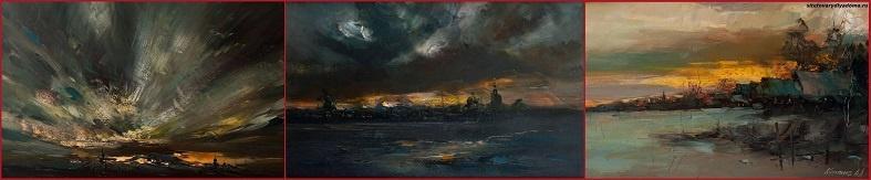 картины маслом художника Колотилова-картины неба