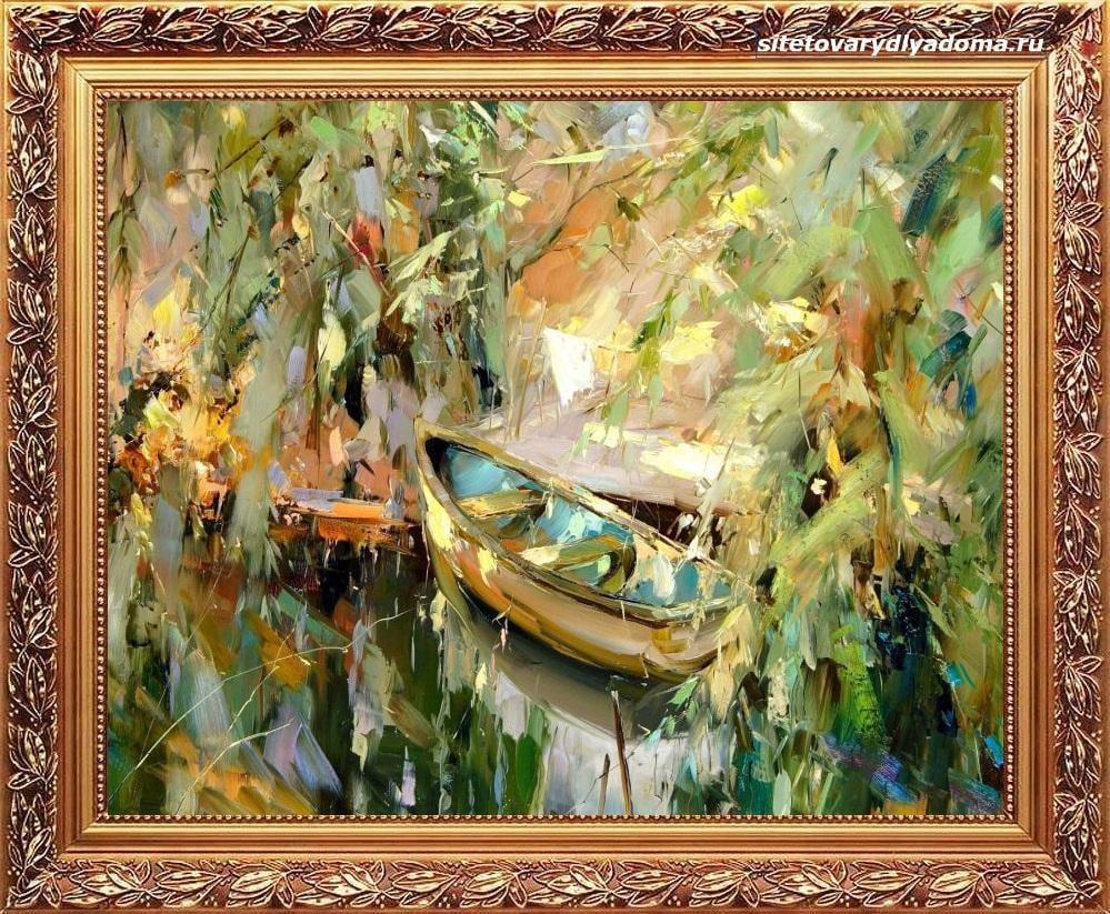 купить картину маслом художника колотилова-лодка