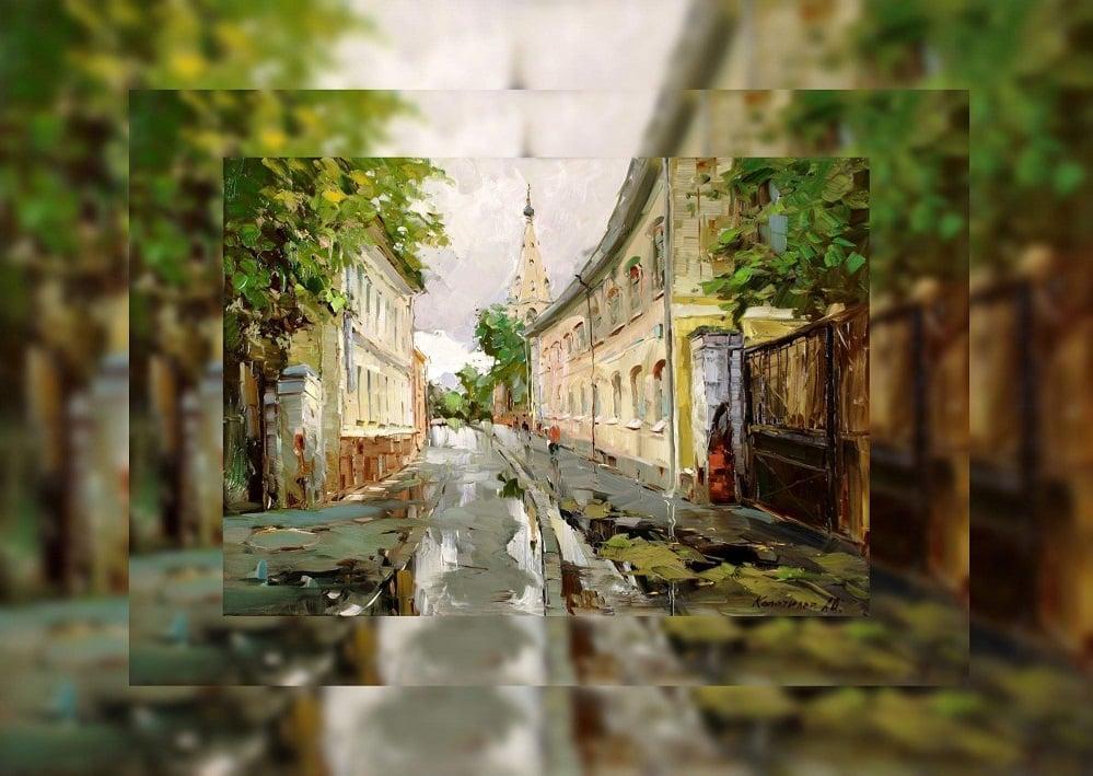 купить картину маслом художника колотилова-улочка