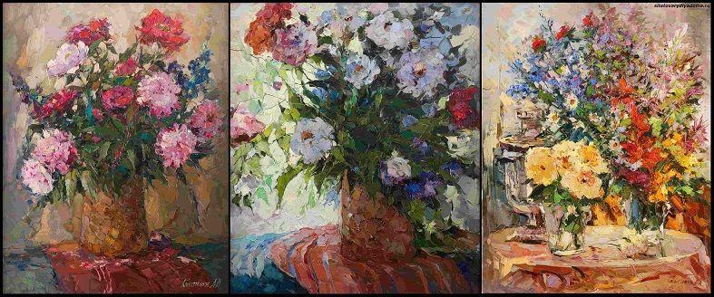 натюрморты с цветами-сайт товары для дома