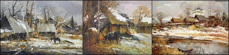 весенние пейзажи-художник Колотилов