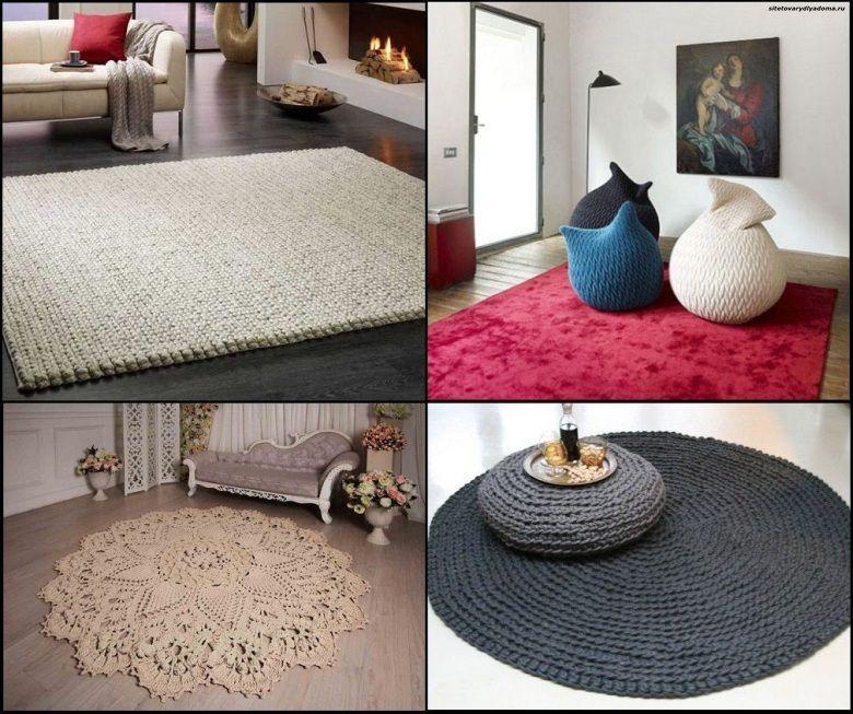 вязаные коврики в интерьере дома-сайт товары для дома
