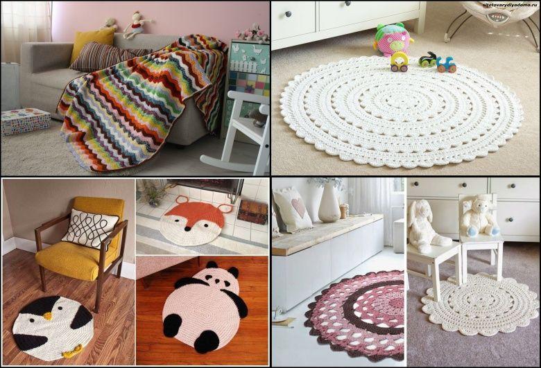 вязаный интерьер детской комнаты-сайт товары для дома