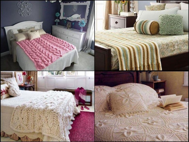 вязаный интерьер спальни-сайт товары для дома