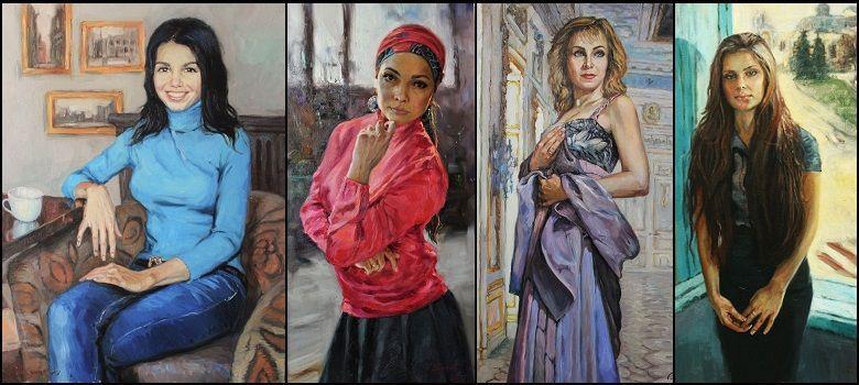 заказанные портреты для интерьера художника Жукова