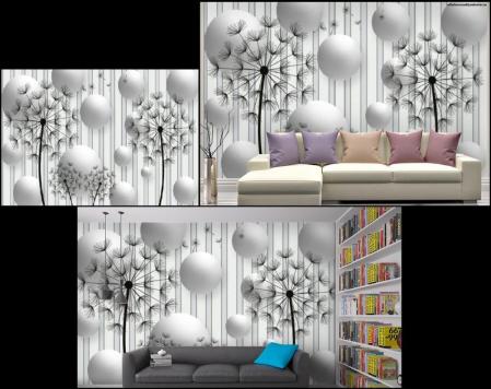 3D фотообои Абстракция с одуванчиками сайт товары для дома