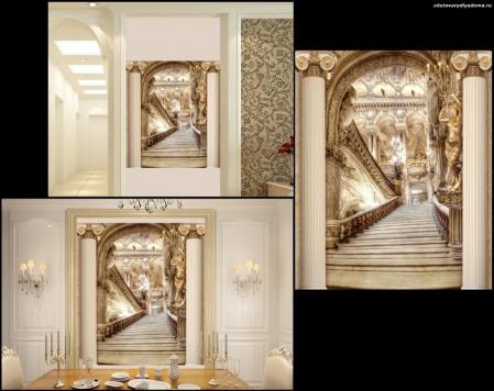 3 Д фотообои Лестница в богатом замке на сайте товары для дома