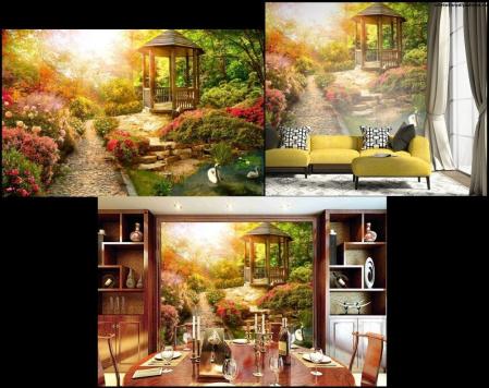3Д обои Весеннее утро на сайте товары для дома