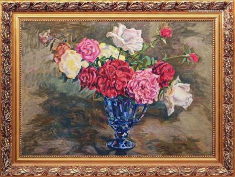 Работа художника Гилярова «Натюрморт Розы»