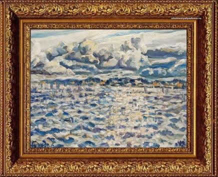 картина А.В.Гилярова под названием Козьмодемьянск.Васюки.Волга