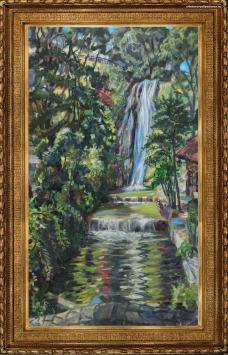Картина с водопадом А. Гилярова «Водопад. Болгария, Балчек»-картина маслом