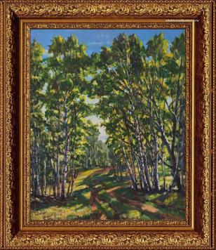 пейзаж Алексея Гилярова Весна в Тверской области Код 140