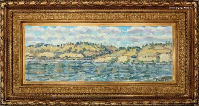 пейзаж речной Нижняя Волга-художник Алексей Викторович Гиляров