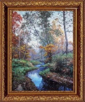 Пейзаж Жукова природный Лесной ручей.Утро
