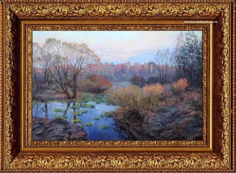 Живопись Сергея Жукова в картине Солнце садится.Весна