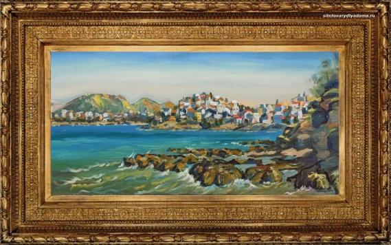 полотно А.В.Гилярова «Греция.Миконос» на сайте товаров для дома