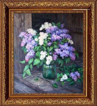 Натюрморт Жукова с цветами «Сирень-1»