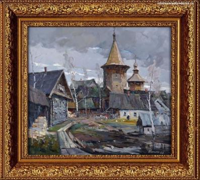 пейзаж деревенский Карелия