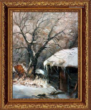 Картина о зиме художника Колотилова-Февраль-К057