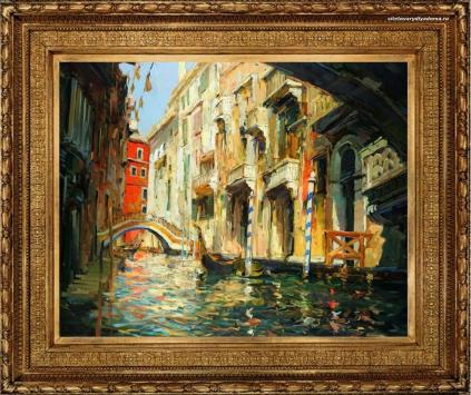 городской пейзаж Венеция Солнечный день