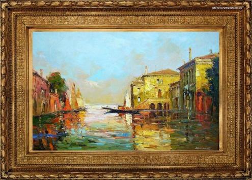 пейзаж городской «Венеция.Утро»