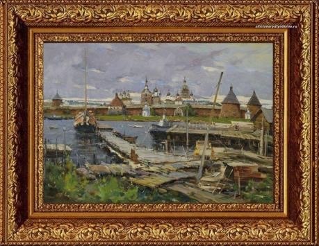 Картина художника Колотилова Верфь.Соловки