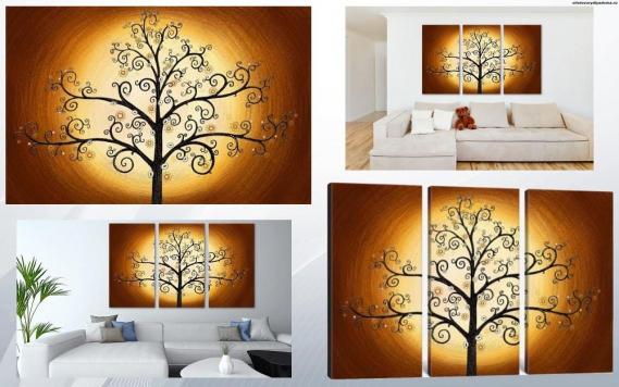 модульная картина Дерево жизни - на сайте товары для дома