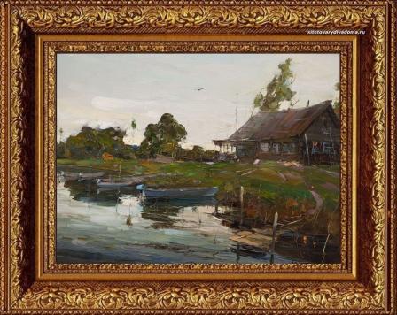 картина Александра Колотилова-На реке Оке