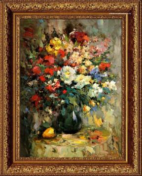 Цветочный натюрморт живописца А.А.Колотилова Цветы-3