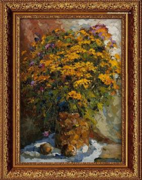 Картина с изображением цветов Александра Колотилова Полевые цветы