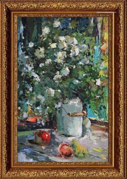 Натюрморт цветов А.Колотилова «Шиповник»