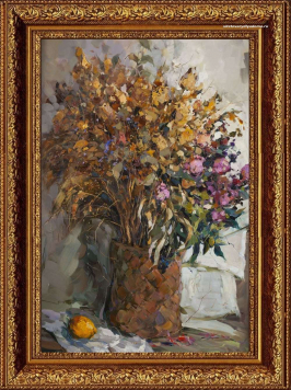 натюрморт цветочный художника А.Колотилова Сухостой
