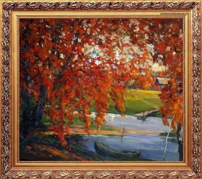 осенний пейзаж художника Колотилова-Пушкино.Осень