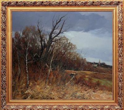 пейзаж об осени Колотилова - Подмосковные дали-к-047