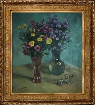 Натюрморт С.А.Жукова «Цветы.Осень»